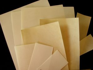 Selection of different types of vellum