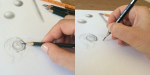 hand drawing with pencil
